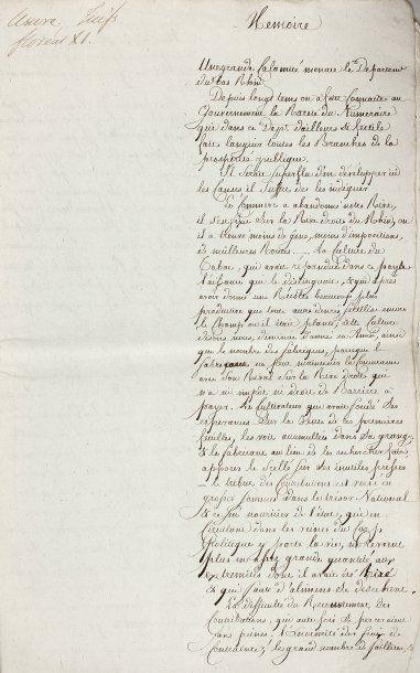 ALSACE - BAS RHIN - Usure - Mémoire anonyme...