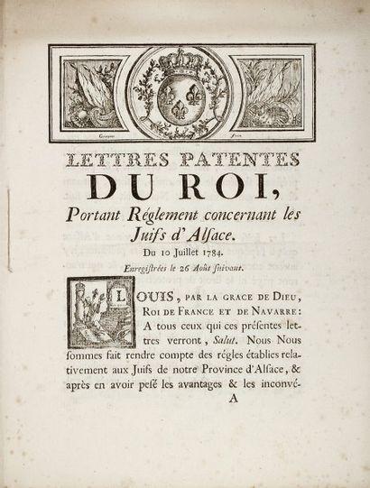 ALSACE - Lettres patentes du Roi, Portant...
