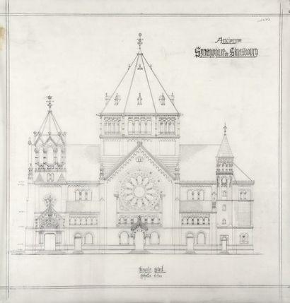 ALSACE - Synagogue de Strasbourg - Série...