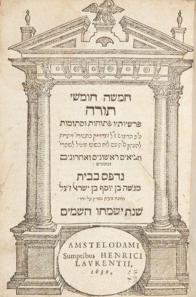 BIBLE - Amsterdam, Menasseh ben Israël aux...