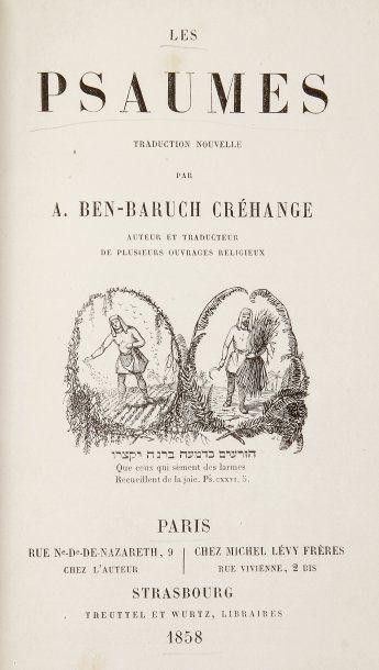 BIBLE - Les Psaumes, traduits par A. BEN-BARUCH...