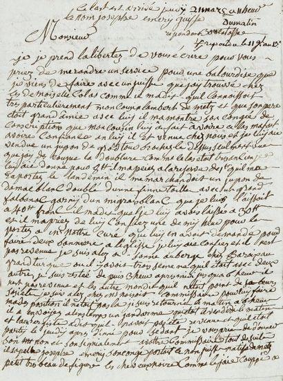 CHARLEVILLE et SEDAN - Lettre autographe...