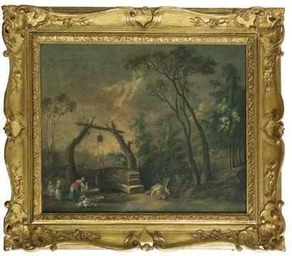 Ecole FRANCAISE vers 1780, suiveur de Nicolas Jacques JULLIARD