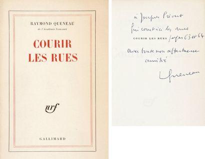 Raymond QUENEAU Courir les rues (Gallimard, 1967). In-8, broché. Édition originale...