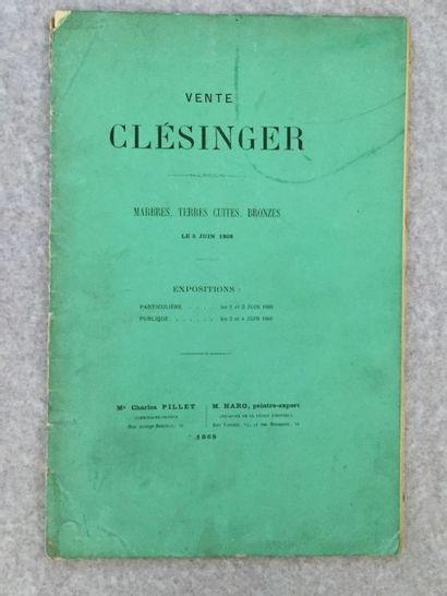 [ARTS - CLÉSINGER]. Catalogue des marbres,...