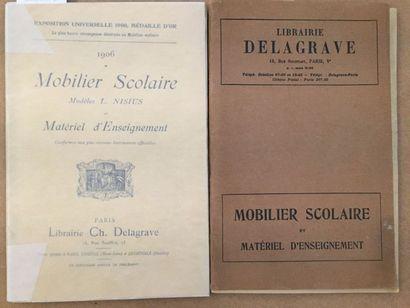 [MOBILIER SCOLAIRE]. Ensemble de 2 catalogues...
