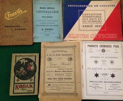 [PHOTOGRAPHIES]. Ensemble de 6 catalogues...