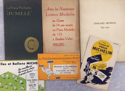 [PNEUMATIQUES] MICHELIN. Ensemble de 3 brochures...