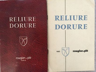 [RELIURE] ROUGIER & PLÉ. Outillage & Fournitures...