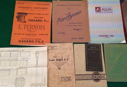 [SANITAIRES]. Ensemble de 10 catalogues :...