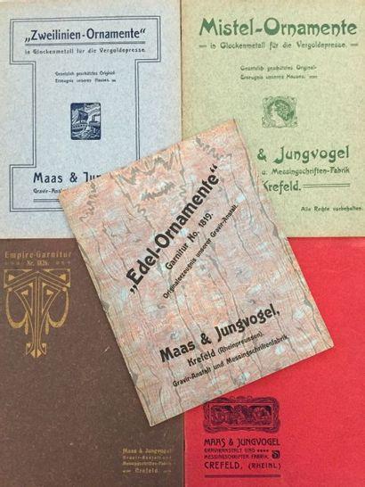 [TYPOGRAPHIE] MAAS & JUNGVOGEL. Zweilinien-Ornamente....