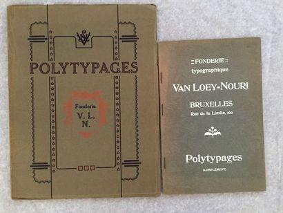 [TYPOGRAPHIE] VAN LOEY-NOURI. Gravures et...