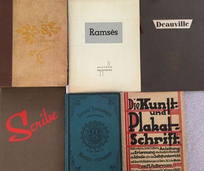 [TYPOGRAPHIE]. Ensemble de 7 catalogues et...