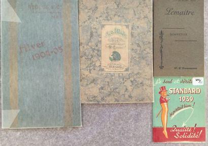 [MODE FÉMININE]. Ensemble de 4 catalogues...