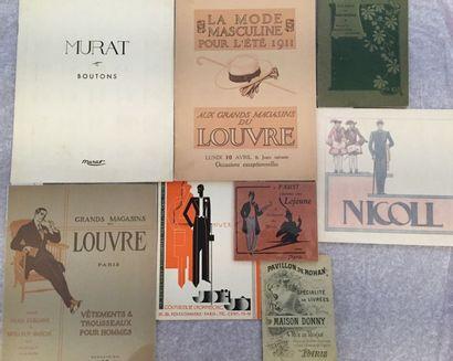 [MODE MASCULINE]. Ensemble de 9 catalogues...