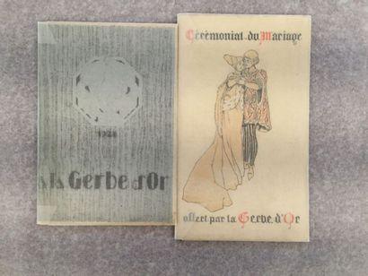 [BIJOUTERIE] LA GERBE D'OR. Ensemble de 2...