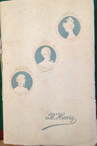 [COIFFURE] ÉTABLISSEMENTS B. HENRY. Coiffures...