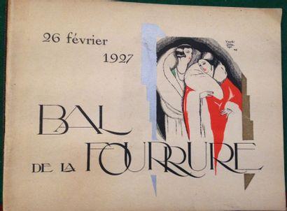 [FOURRURES]. Bal de la fourrure. Paris, 1927....