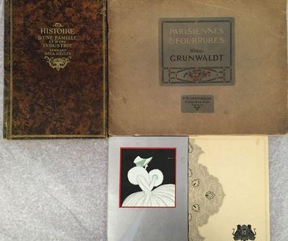 [FOURRURES]. Ensemble de 4 livres et brochures...
