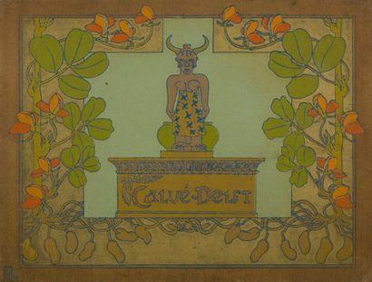 [ALIMENTATION] CALVÉ-DELFT. [Album]. S.l., [1897]. — In-4 oblong. Cartonnage illustré...