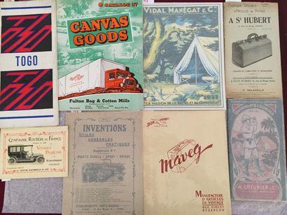 [VOYAGE]. Ensemble de 8 catalogue ou brochures...