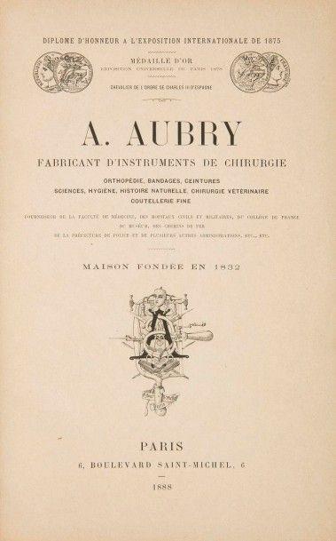 [CHIRURGIE]. Ensemble de 3 catalogues : -...