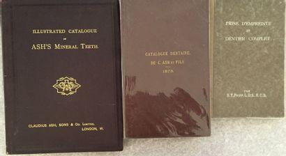 [DENTISTERIE]. Ensemble de 3 catalogues et...