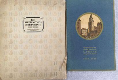 [SANTÉ]. Ensemble de 2 brochures : - FRÈRES. Centenaire de la maison L. Frères rue...