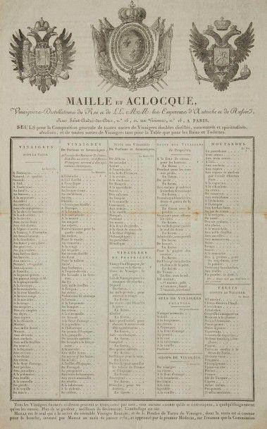 [ALIMENTATION] MAILLE & ACLOQUE. Vinaigrier-Distillateurs...