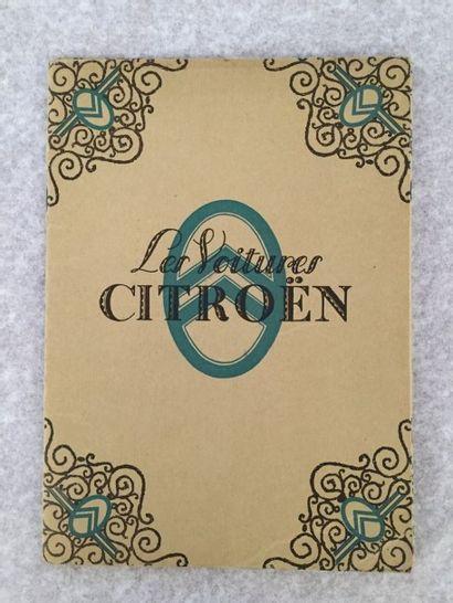 [AUTOMOBILES] CITROËN. Les voitures Citroën. Paris, [vers 1930]. — Ensemble de photographies...