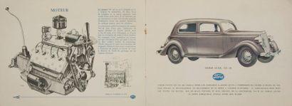 [AUTOMOBILES] FORD. Ford V8 - 48. Paris : imprimerie des éditions Paul Iribe, [1935]....