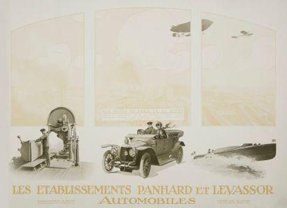 [AUTOMOBILES] PANHARD & LEVASSOR. Voitures carrossées. Paris, 1914. — Grand in-folio...