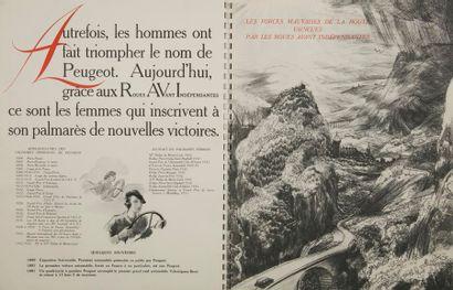 [AUTOMOBILES] PEUGEOT. Indépendance. Paris : Peugeot (impr. Draeger), 1933. — In-folio,...
