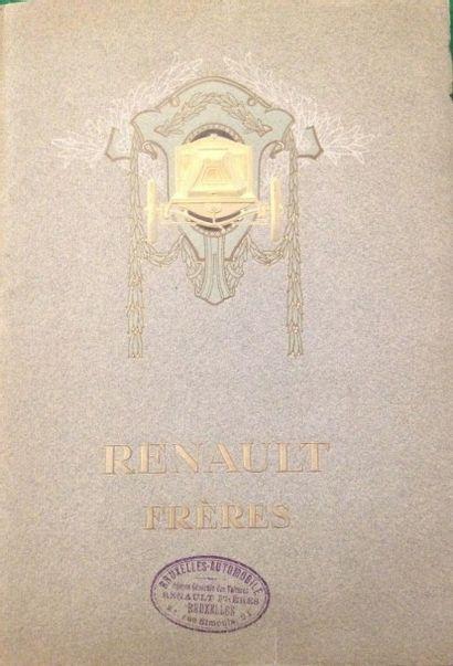 [AUTOMOBILES] RENAULT. Renault frères. Billancourt, [1908]. — In-4, couverture illustrée....