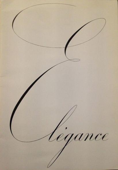 [AUTOMOBILES] RENAULT. Élégance. Billancourt : usines Renault, (1936). — Plaquette...
