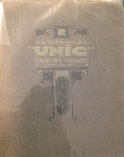 [AUTOMOBILES] UNIC. Automobiles UNIC. Georges...