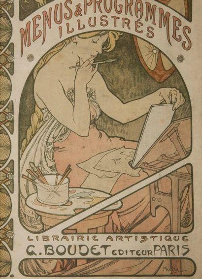 [GASTRONOMIE] MAILLARD (Léon). Les Menus & Programmes illustrés. Invitations - Billets...