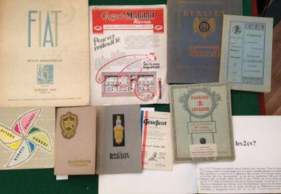 [AUTOMOBILES]. Ensemble de 10 catalogues ou brochures : - BARDIN. La Bougie Bardin....