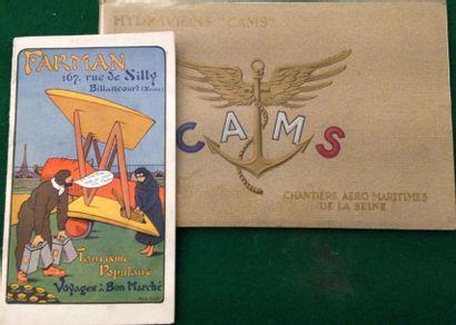 [AVIATION]. Ensemble de 2 catalogues : - FARMAN. L'Avion « sport-Farman ». Billancourt,...