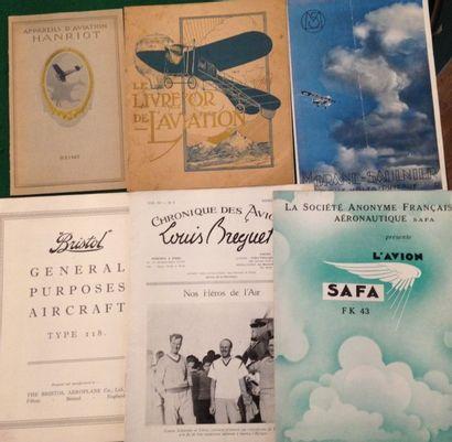 [AVIATION]. Ensemble de 6 brochures : - La locomotion aérienne offerte aux membres...