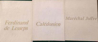 [BATEAUX]. Ensemble de 3 plaquettes de lancements de navire, publiées par la Compagnie...