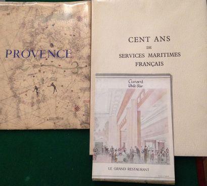 [BATEAUX]. Ensemble de 3 brochures : - Provence....