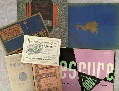 [CUISINE]. Ensemble de 7 catalogues ou brochures...