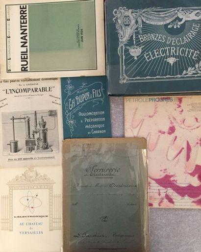 [ÉNERGIES]. Lot de 7 brochures : - DUPUY ET FILS. Agglomération et préparation mécanique...