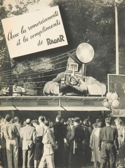 [PRESSE] Radar, 1952. Plaquette publicitaire...