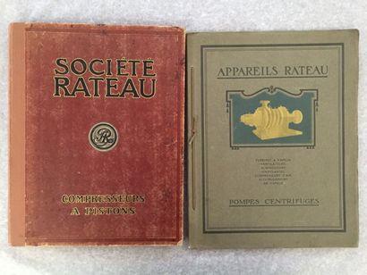 [INDUSTRIE] RATEAU. Ensemble de 2 catalogues...