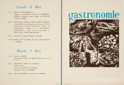 [TOURISME] 7 étapes touristiques en Quercy. 7 mai 1939 Plaquette tirée à 150 exemplaires....