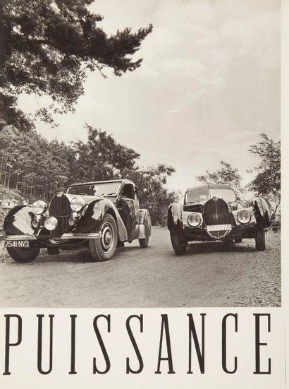 [AUTOMOBILE] Bugatti, Le pursang de l'automobile. Catalogue en français de 1937...