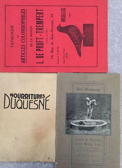 [ANIMAUX]. Ensemble de 3 brochures : - JOHN...