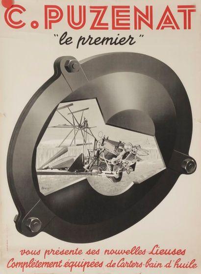 Ensemble de 2 affiches : - ROQUIN, Puzenat Signée en bas à gauche. 75 x 56 cm 3...